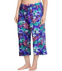 jockey plus size cotton capri pajama pants