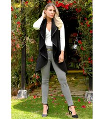 chaleco invierno outfit 3104 para mujer negro