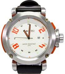 reloj limited 88-109-3 negro/naranja fondo blanco para caballero