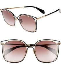 women's rag & bone 56mm gradient square sunglasses -