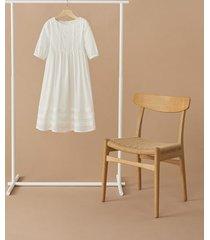 jurk met ajour details
