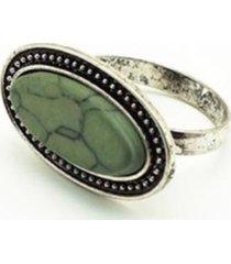 anillo piedra plateado i-d