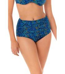 women's miraclesuit basilisk norma jean bikini bottoms, size 8 - blue/green
