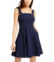 city studios juniors' scalloped wide-strap dress