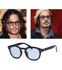 johnny depp star sunglasses man fashion vintage rivets eyeglass women sun glasse