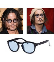 johnny depp star sunglasses man fashion vintage rivets eyeglass women sun glasse