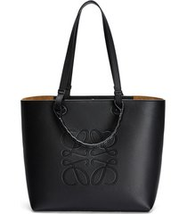 anagram top handle leather tote