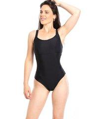traje de baño deportivo reductor negro samia