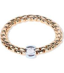 fope 18kt gold diamond flex it bracelet - pink