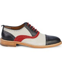 chambliss cap-toe suede & leather oxford brogues