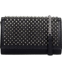 christian louboutin paloma clutch shoulder bag in black leather