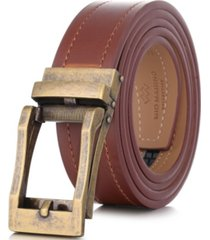mio marino men's rugged leather linxx designer ratchet belt