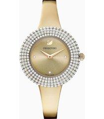 orologio crystal rose, bracciale di metallo, dorato, pvd tonalitã oro champagne