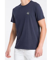 camiseta masculina logo no peito azul marinho calvin klein jeans - pp