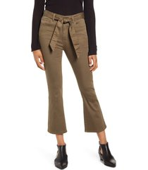 women's prosperity denim belted crop flare jeans