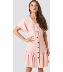 trendyol sleeves flywheel shirt dress - pink