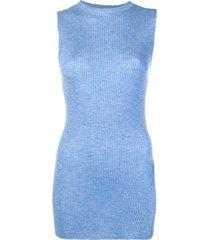 cashmere in love cashmere ribbed vest - blue