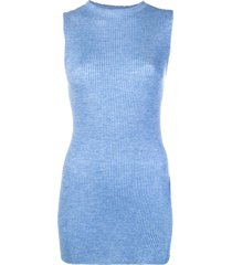 cashmere in love cashmere ribbed vest - blue