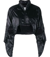 a-cold-wall* cropped raglan-shoulder jacket - black