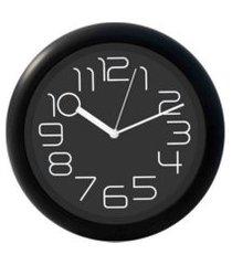 relógio de parede redondo sortido - 31cm - números grandes preto