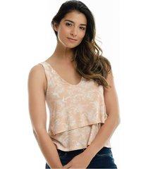 camiseta para mujer en viscosa multicolor color multicolor talla s