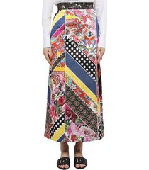 dolce & gabbana long patchwork skirt