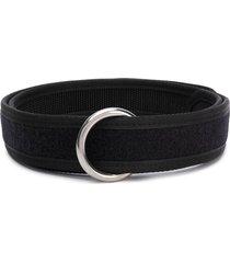 random identities ring-buckle touch-strap belt - black