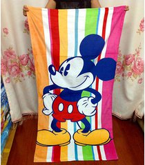 155-75cm-kawaii-travel-swim-drying-bath-towels-microfiber-mickey-minnie-spa-beac
