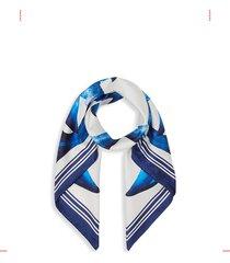 mermaid tail logo silk scarf