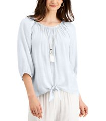 jm collection petite necklace top, created for macy's