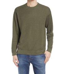 men's closed linen & cotton men's sweater, size x-large r - green