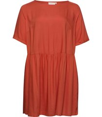 carbloom life 2/4 tunic dress solid tunika röd only carmakoma