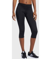 calza negra reebok workout ready capri