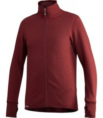 woolpower vest full zip jacket 400 rust red-s
