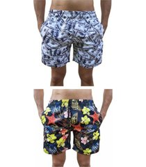 kit 2 bermuda short moda praia estampada dollar e estrela