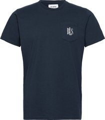 pocket tee mini logo t-shirts short-sleeved blå bls hafnia