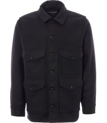 filson mackinaw wool cruiser jacket - dark navy 11010043