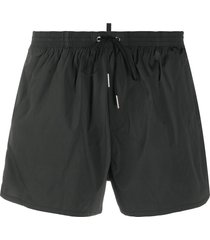 dsquared2 icon drawstring-waist swim shorts - green