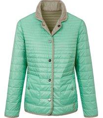keerbare gewatteerde jas met staande kraag van basler multicolour