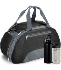 kit bolsa esportiva gym com 3 peças topget preto