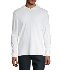 james perse men's long-sleeve t-shirt hoodie - white - size 1 (s)