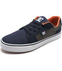tenis basketball azul-gris-naranja dc shoes anvil tx mx