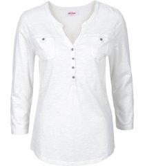 maglia serafino in cotone biologico (bianco) - john baner jeanswear