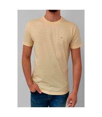 camiseta calvin klein flamê amarelo logo