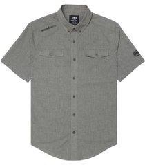 ecko unltd men's branded chambray woven shirt