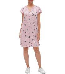 vestido rosa-azul-blanco gap