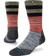 women's stance alder crew socks, size small - black