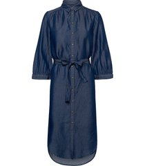 rue shirt dress knälång klänning blå soft rebels