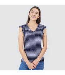 camiseta para mujer lineas horizontales