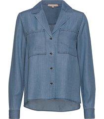 moira ls shirt overhemd met lange mouwen blauw soft rebels